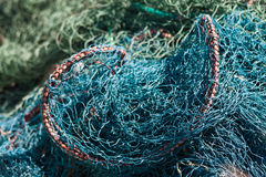 Fishing Net. Close up of fishing nets Royalty Free Stock Images