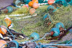 Fishing net. In Schleswig Holstein, Germany stock photos
