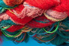 Fishing net. Close up view of fishing net royalty free stock photos