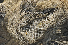Fishing net. It is a detail of fishing nets Royalty Free Stock Photos