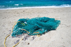 Fishing Net. On the Beach royalty free stock image