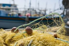 Fishing Net. Beach blue fish fishing industry Stock Photography