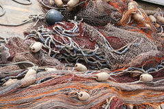 Fishing net. On boat Stock Images