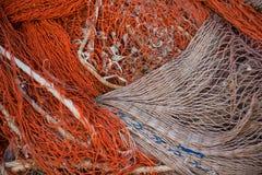 Fishing net background Stock Photo