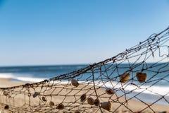 Fishing net in beach Stock Photos