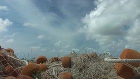 A fishing net stock video