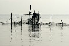 Fishing Net Close To The Beach Royalty Free Stock Images