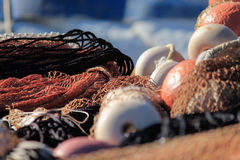 Fishing net close up, fishermen equipment. Stock Photo