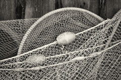 Fishing net. Close-up of an old fishing net royalty free stock image
