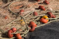 Fishing net. Close up view of traditional fishing net royalty free stock photo