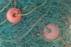 Fishing net. Close up view of traditional fishing net stock image