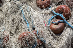 Fishing net closeup photo Stock Photo