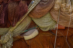 Fishing net. Colorful fishing net close up royalty free stock photography