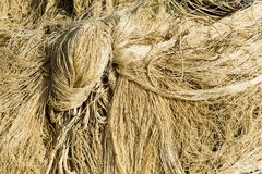 Fishing net with cords and floats background. Pile of fishing net with cords and floats background stock image
