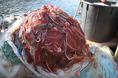 Piled fishing Nets image, piled Fishing nets picture,sea,entrapment,job Royalty Free Stock Image