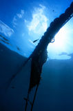 Fishing net from the depths Royalty Free Stock Photo