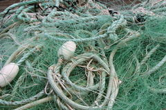 Fishing net on the dock royalty free stock images