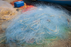 Fishing Net. With equipment, closeup. Goa royalty free stock image