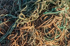 Fishing net fisherman knot pattern stock photos