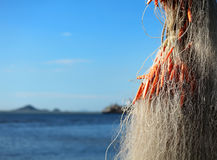 Fishing net for fishing industry. Close up Royalty Free Stock Photos