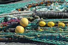 Fishing net. S in the port of Loctudy, Finistere, Brittany, France spread to dry royalty free stock photos
