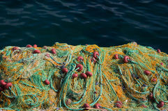 Fishing net with floats Royalty Free Stock Photography