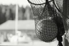 Fishing net fragment with float sphere inside Stock Image