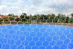 Fishing net in futsal court public outdoor park. Stock Photos