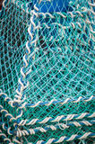 Fishing net. Green fishing net For background royalty free stock photo