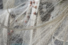 Fishing net hanging for drying Stock Image