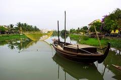 Fishing net on Hoai river, Hoi An, Quang Nam, Vietnam Stock Photography