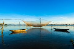 Fishing net in Hoian, Danang. Vietnam royalty free stock images