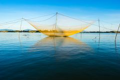 Fishing net in Hoian, Danang. Vietnam royalty free stock photography
