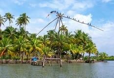 Fishing net in Kerala, India Royalty Free Stock Photography