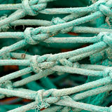 Fishing net knot details Stock Photography