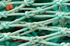 Fishing net knot details Stock Images
