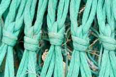 Fishing net knot details Royalty Free Stock Photos