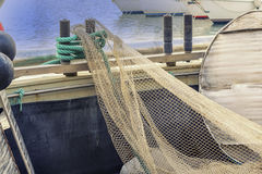 Fishing net. Look at the fishing net, waiting for the fisherman Royalty Free Stock Photo