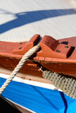 The fishing net lying in the sun. Stock Photos