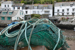Fishing net. S in a small town on the coast of Cornwall Stock Image