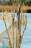 Fishing Net picture,fishing net viewing,trap,entrapment,Fishing net image,lake,job Stock Photography