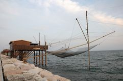 Fishing net in north Italy Royalty Free Stock Photo
