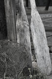 Fishing Net And Oars Royalty Free Stock Photo