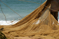 Fishing net on the ocean Stock Image