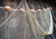 Fishing net. At an old port stock image