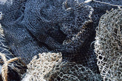 Fishing net. Old fishing or shrimping net for catching small fish or shrimp stock photo