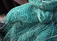 Fishing Net On A Boat Royalty Free Stock Image