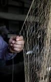 Fishing net paching royalty free stock image