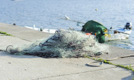 Fishing net at Pier Stock Photo