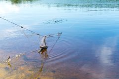 Fishing net. Poaching. Place for your text. royalty free stock images